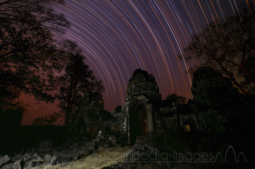star trails preah khan
