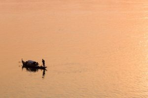 Fishing on the golden Mekong