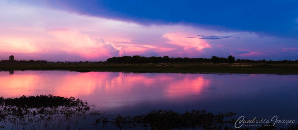 storm at sunset cambodia timelapse