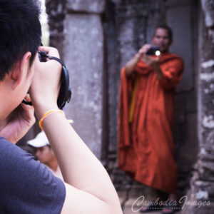 Angkor way photography tour photograph monk