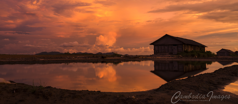 SUNSET KAMPOT SALT FIELD BOKOR HILL