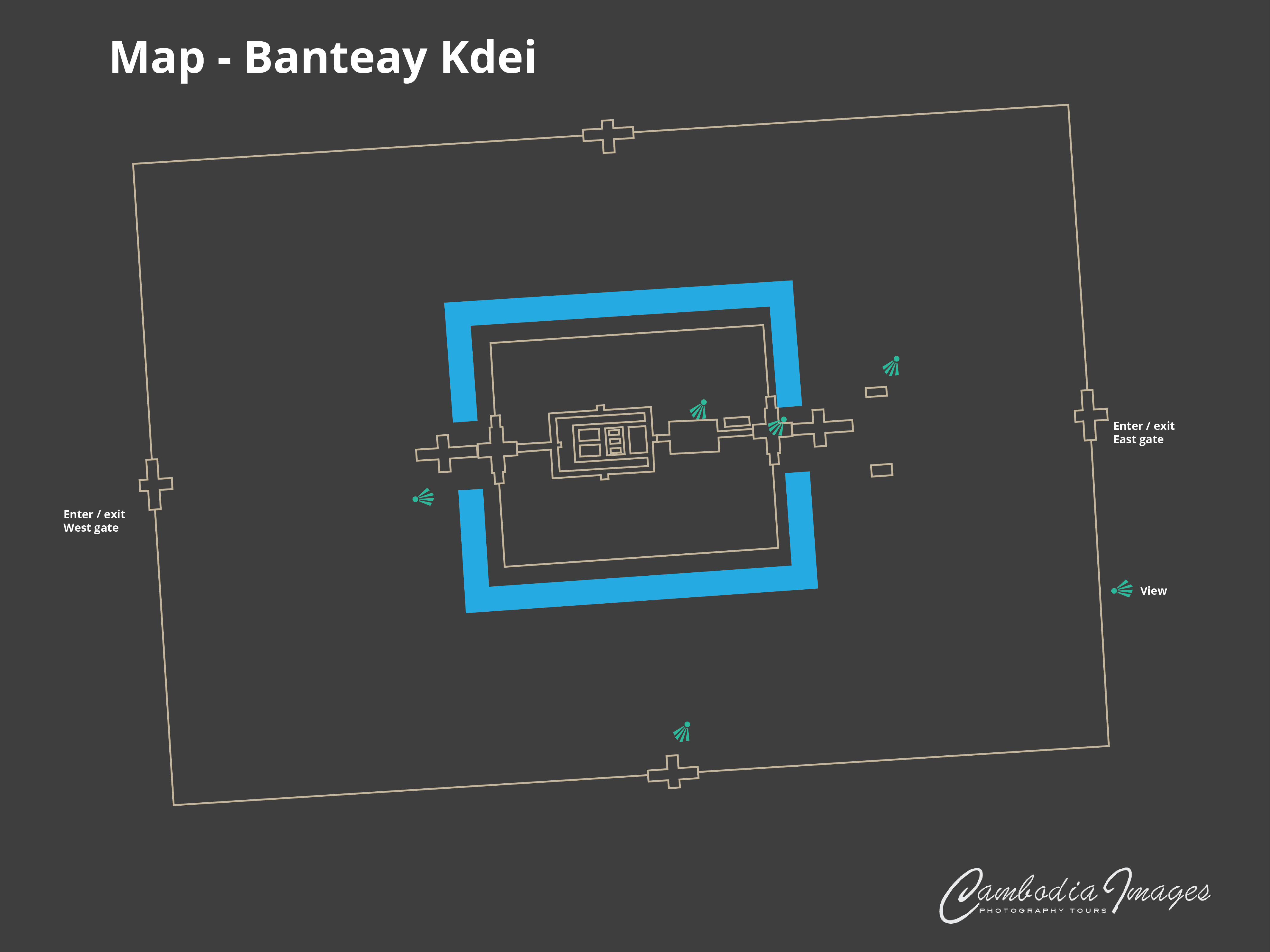 Banteay Kdei map 2