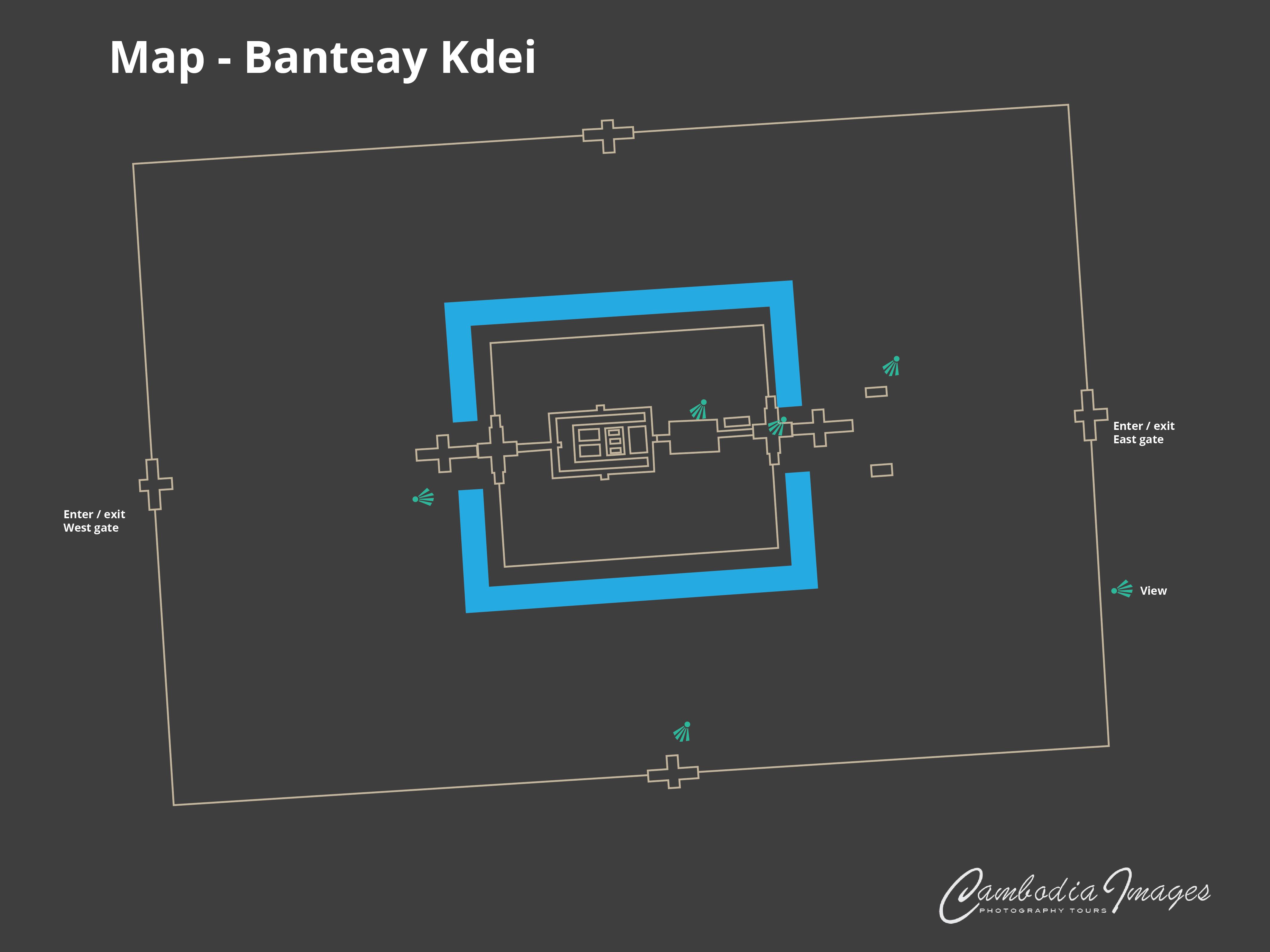 Banteay Kdei map 2