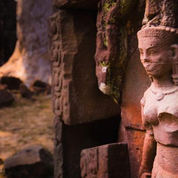 Angkor remote temple reilef