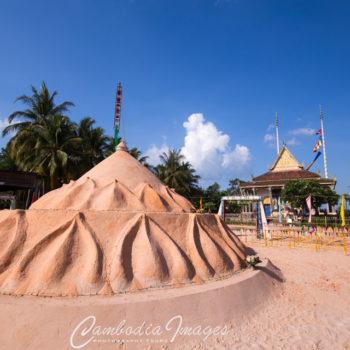 Cambodia pagoda during sangkran
