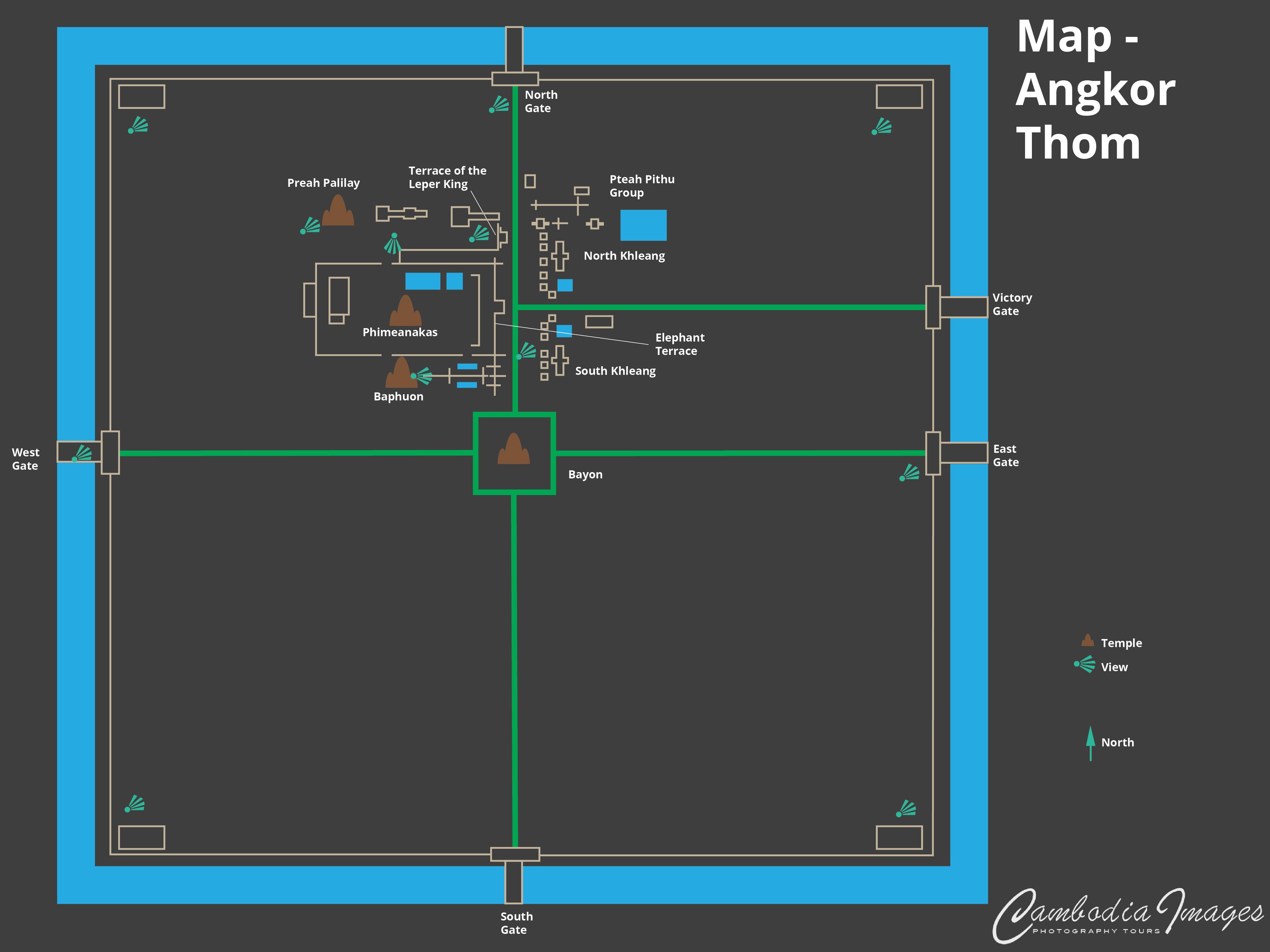 Angkor Thom Map