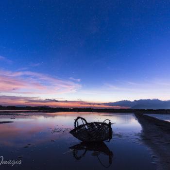 Kampot salt fields night sky