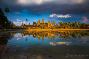 Angkor Wat golden hour - cambodia images