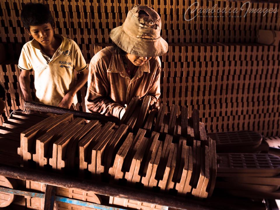 Brick makoing Cambodia